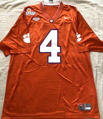 Deshaun Watson Clemson Tigers 2015 authentic Nike double stitched orange LARGE jersey