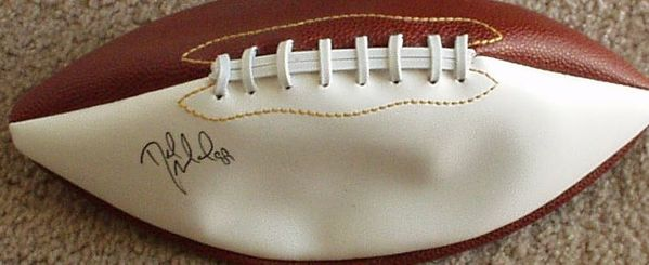 Desmond Howard autographed full size white panel football