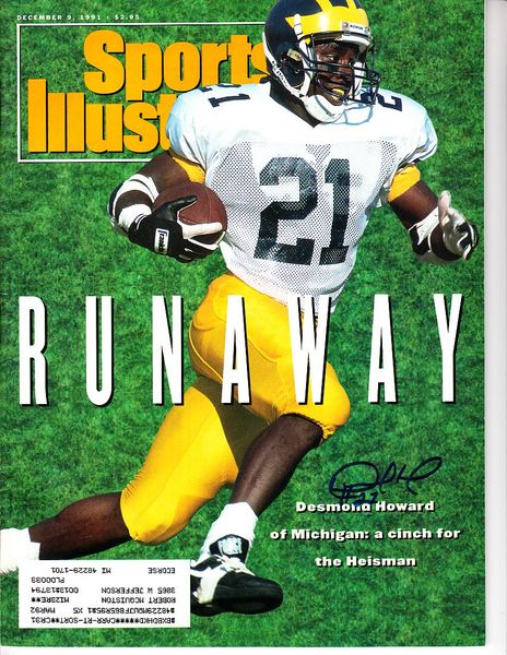 Desmond Howard autographed Michigan Wolverines 1991 Sports Illustrated