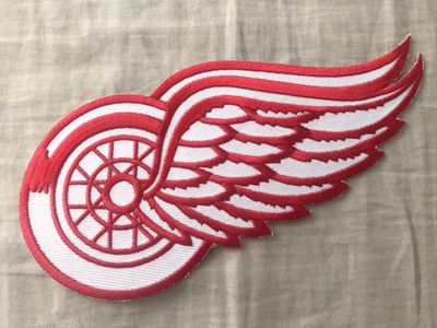 Detroit Red Wings logo embroidered jersey patch