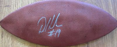 Devery Henderson autographed leather football panel