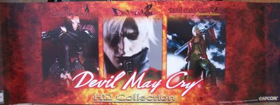 Devil May Cry HD Collection Capcom 10x30 inch 2012 Wondercon promo poster MINT