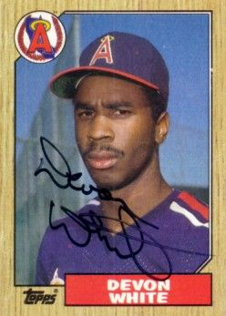 Devon White autographed Angels 1987 Topps Rookie Card