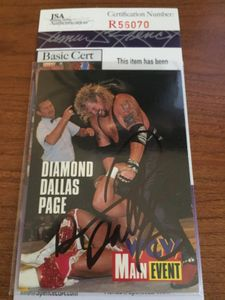 Diamond Dallas Page autographed 1995 WCW wrestling card (JSA)