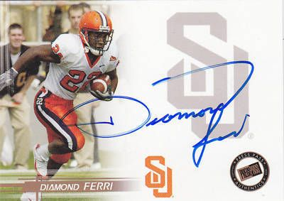 Diamond Ferri certified autograph Syracuse Orangemen 2005 Press Pass card