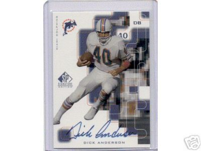 Dick Anderson certified autograph Miami Dolphins SP Signature Edition card