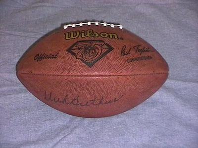 Dick Butkus autographed 1994 NFL 75th Anniversary authentic Wilson game model football (JSA)