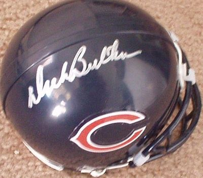 Dick Butkus autographed Chicago Bears Riddell mini helmet