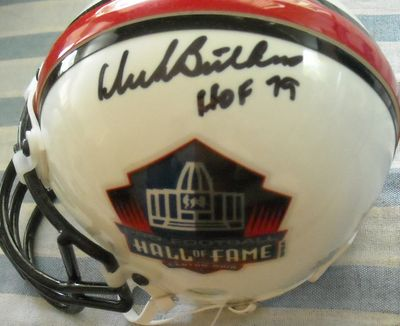 Dick Butkus autographed Pro Football Hall of Fame Riddell authentic mini helmet