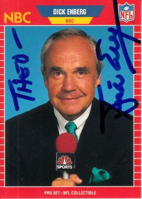 Dick Enberg autographed 1989 Pro Set Announcers card (personalized)