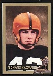 Dick Kazmaier Princeton Tigers 1951 Heisman Trophy winner card