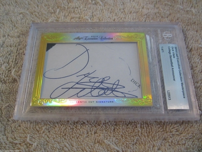 Dick Vitale 2014 Leaf Masterpiece Cut Signature certified autograph card 1/1 JSA