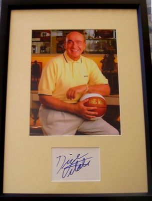 Dick Vitale autograph matted and framed with 8x10 photo