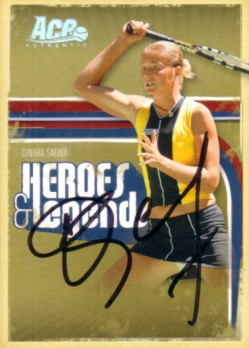Dinara Safina autographed 2006 Ace Authentic tennis card #37/100