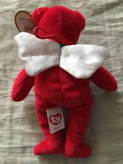 Divine Ty Beanie Baby Christmas plush bear holiday ornament BRAND NEW WITH TAGS