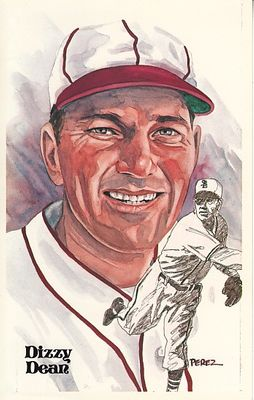 Dizzy Dean 1980 Perez-Steele Baseball Hall of Fame postcard