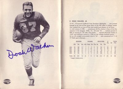 Doak Walker autographed 1955 Detroit Lions yearbook
