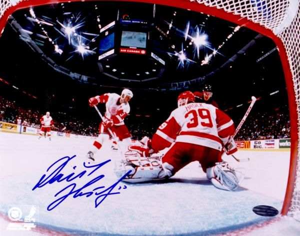 Dominik Hasek autographed Detroit Red Wings 8x10 photo (Steiner)