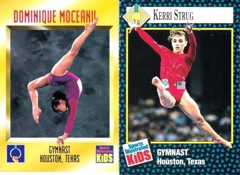 Dominique Moceanu 1995 and Kerri Strug 1992 Sports Illustrated for Kids Rookie Cards
