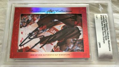 Dominique Wilkins and Spud Webb 2017 Leaf Masterpiece Cut Signature certified autograph card 1/1 JSA