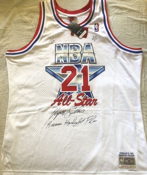 Dominique Wilkins autographed 1991 NBA All-Star Game jersey inscribed Human Highlight Film (Schwartz Sports)
