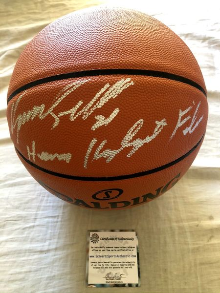 Dominique Wilkins autographed Spalding NBA basketball inscribed Human Highlight Film (Schwartz Sports)