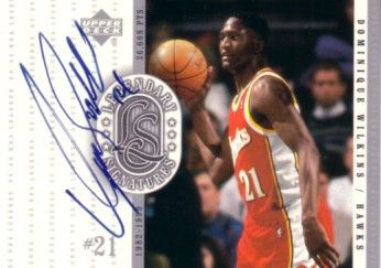 Dominique Wilkins certified autograph Atlanta Hawks 2000-01 Upper Deck Legendary Signatures card
