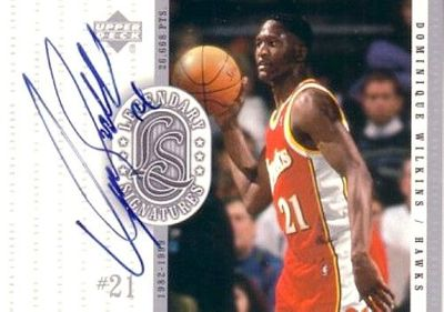 Dominique Wilkins certified autograph Atlanta Hawks 1999-00 Upper Deck Legendary Signatures card