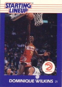 Dominique Wilkins Atlanta Hawks 1988 Kenner Starting Lineup card