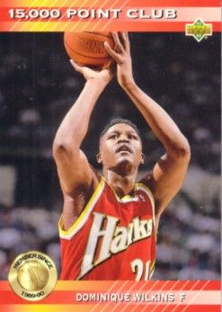 Dominique Wilkins Hawks 1992-93 Upper Deck 15,000 Point Club insert card