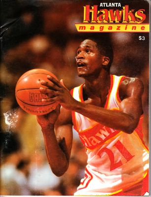Dominique Wilkins lot of 2 vintage Atlanta Hawks 1987 and 1988 game programs