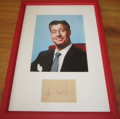Don Ameche autograph matted & framed with vintage 8x10 portrait photo