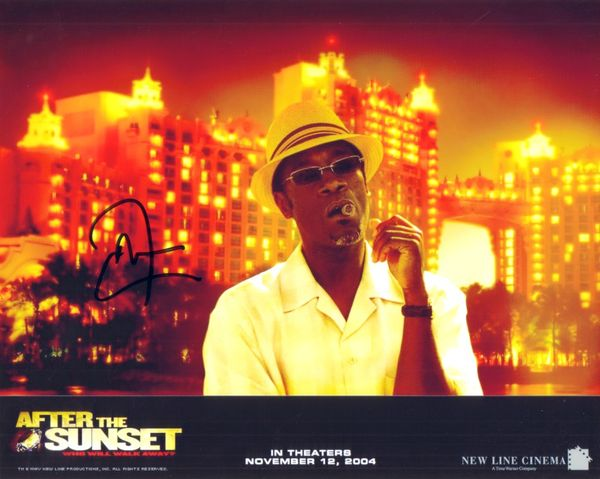 Don Cheadle autographed After the Sunset 8x10 photo