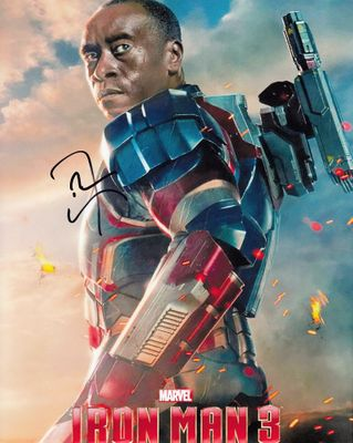 Don Cheadle autographed Iron Man 3 War Machine 8x10 photo