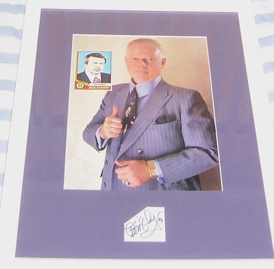 Don Cherry autograph matted & framed with Beckett Hockey back cover 8x10 photo