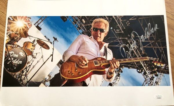 Don Felder (The Eagles) autographed 11x17 poster (JSA)