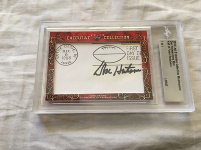 Don Hutson and Jerry Rice 2018 Leaf Masterpiece Cut Signature certified autograph card 1/1 JSA