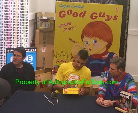 Don Mancini and David Kirschner autographed Child's Play Chucky Good Guys full cereal box