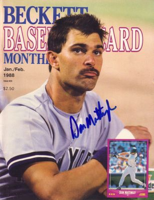 Don Mattingly autographed New York Yankees 1988 Beckett Baseball magazine cover