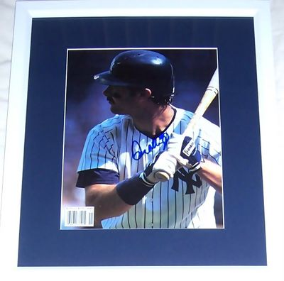 Don Mattingly autographed New York Yankees Beckett Baseball magazine photo matted and framed