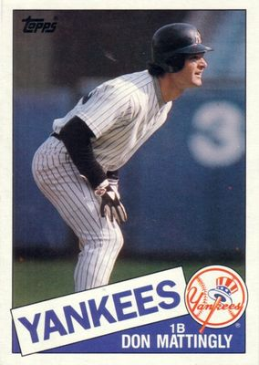 Don Mattingly New York Yankees 1985 Topps Super 5x7 inch jumbo card