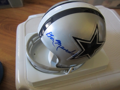 Don Meredith autographed Dallas Cowboys throwback mini helmet