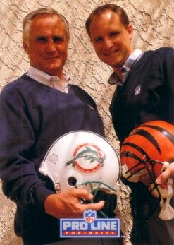 Don Shula and Dave Shula 1992 Pro Line Portraits Collectible insert card #8