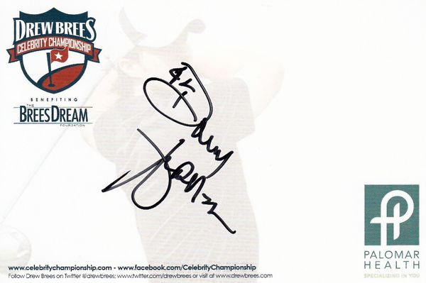 Donny Anderson autographed 4x6 signature card