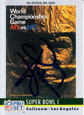 Donny Anderson autographed Super Bowl I program cover 1990 Pro Set card