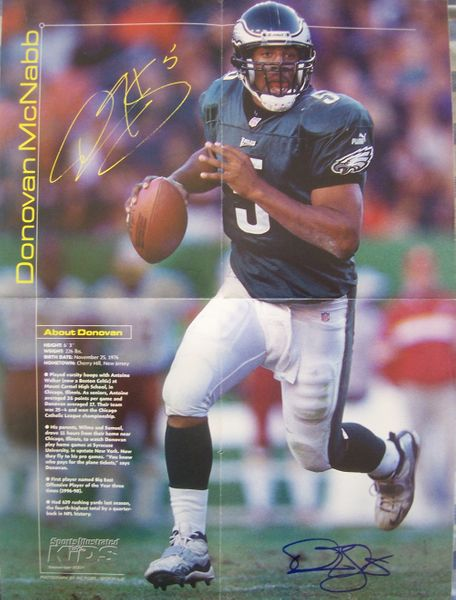 Donovan McNabb autographed Philadelphia Eagles Sports Illustrated for Kids 16x20 poster