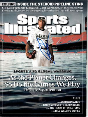 Dontrelle Willis autographed Florida Marlins 2007 Sports Illustrated