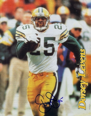 Dorsey Levens autographed Green Bay Packers 8x10 magazine photo