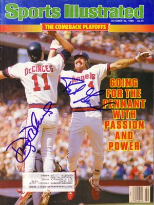 Doug DeCinces and Bob Grich autographed Angels 1986 Sports Illustrated