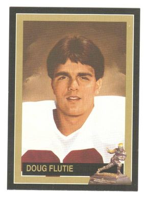 Doug Flutie Boston College Eagles 1984 Heisman Trophy winner card